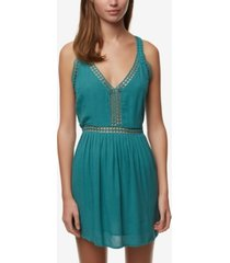 o'neill juniors' mariah crochet-trim tank dress