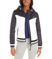 tommy hilfiger sport colorblocked quilted jacket