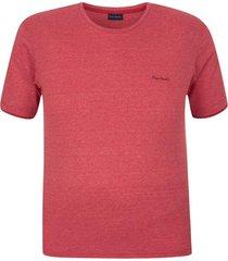 camiseta plus size malha flame moline vermelha - kanui