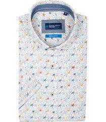 bos bright blue craig overhemd korte mouw rf 21107cr53bo/500 multicolour