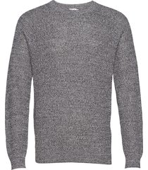 m. sergio sweater gebreide trui met ronde kraag blauw filippa k