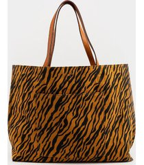 brianna reversible tiger tote - tiger