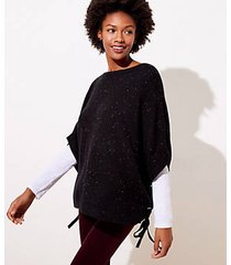 loft lace up poncho