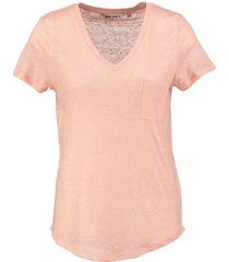 garcia shiny linnen shirt tropical peach