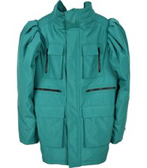 balenciaga oversized puff sleeves down jacket