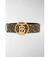 burberry monogram motif buckle belt