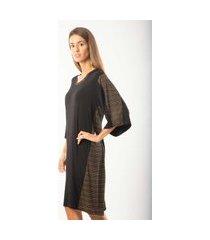 camisola feminino monthal brilhos em viscolycra e canelado preto