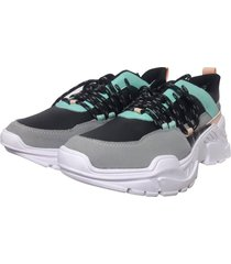 tenis sneakers menta murano shoes menta gris vertical
