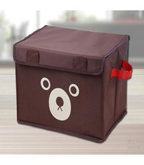 espesar soportar impresión de tela oxford caja de almacenamiento de juguete marrón organizador de almacenaje de ropa