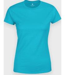 damska koszulka (bez nadruku, gładka) - błękitna