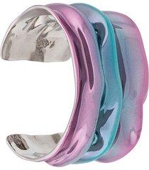 annelise michelson draped cuff bracelet - purple