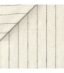 pantaloni da uomo su misura, lanificio subalpino, puro lino beige rigati, primavera estate   lanieri