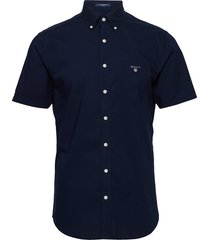 reg broadcloth ss bd overhemd met korte mouwen blauw gant
