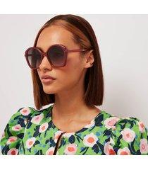 chloé women's billie recycable acetate sunglasses - orange/grey