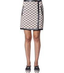 alberta ferretti logo story jacquard skirt