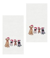 c & f home dog santa hats kitchen towel, set of 2