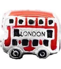 berloque london bus em prata 925