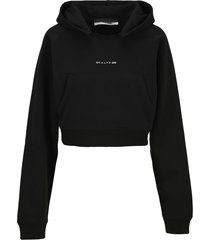 alyx cropped logo hoodie