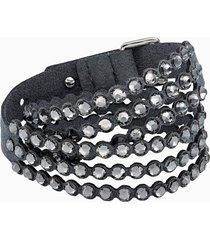 braccialetto swarovski power collection, grigio scuro