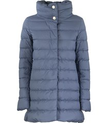 herno ultra-light asymmetrical down jacket