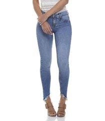 calça jeans denim zero skinny média estonada feminina
