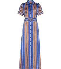 evi grintela badi striped maxi shirt dress - blue