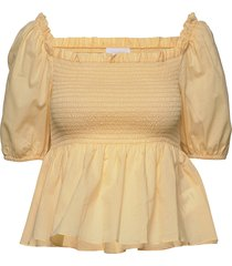 2nd vilde blouses short-sleeved gul 2ndday