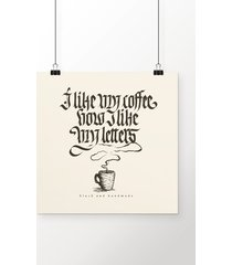 poster coffee & letters
