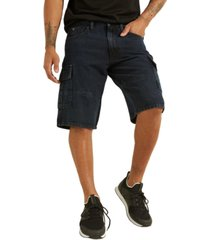 guess men's denim cargo shorts