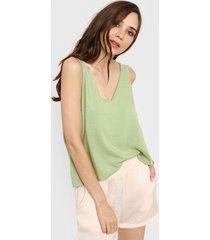 blusa verde nano kendal liso