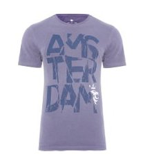 camiseta masculina spray amsterdam - azul