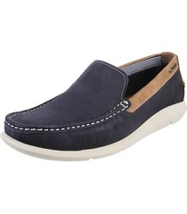 mocasín azul hush puppies bow nobuck