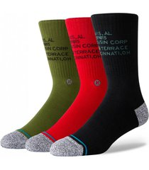 calcetin corp three of a kind multicolor stance