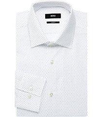 jenno slim-fit logo print dress shirt