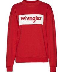 80´s retro sweat sweat-shirt tröja röd wrangler