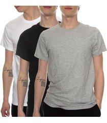 calvin klein 3 stuks cotton stretch crew neck t-shirt