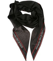 alexander mcqueen side logo print scarf