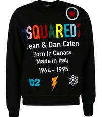 dsquared2 d & d logo print sweatshirt