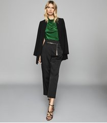 reiss lola - high neck sleeveless top in emerald, womens, size xl