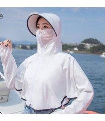 sombrero de sol anti-ultravioleta de verano para mujer-blanco