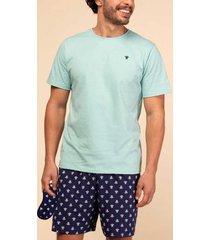 pijama masculino de algodão tartarugas 131299 mensageiro