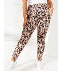 leggings de leopardo de talla grande