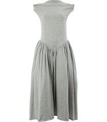 aalto flared drop waist dress - grey