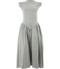 aalto flared drop waist dress - grey