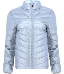 chaqueta acolchada unicolor color gris, talla l