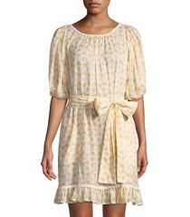 prairie mini floral sheer dress