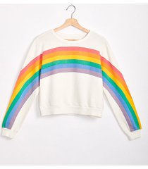 lou & grey rainbow terry sweatshirt