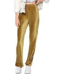 pantalón dorado glamorous