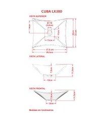 cuba de apoio para banheiro trevalla lux l38 retangular