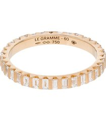 le gramme 18kt gold diamond full pave ring